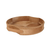 Lazy Susan by Dimond Fallow Faux Pony Tray in Natural Tan 173027