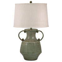Signature 31 inch 100 watt Celadon Crackle Table Lamp Portable Light