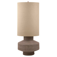 Signature 27 inch 100 watt Taupe Table Lamp Portable Light