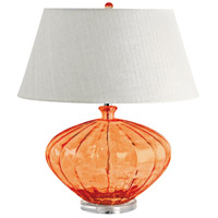 Signature 25 inch 100 watt Orange Table Lamp Portable Light