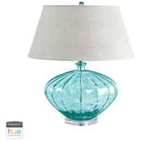 Recycled Glass 25 inch 60 watt Blue Table Lamp Portable Light