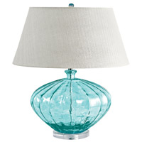 Dimond Lighting 210 Recycled Glass 25 inch 1 watt Blue Table Lamp Portable Light in Incandescent