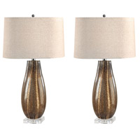 Dimond Lighting 215/S2 Signature 28 inch 100 watt Sand Glass Table Lamp Portable Light, Set of 2