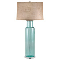 Dimond Lighting 216B Recycled Glass 30 inch 100 watt Blue Table Lamp Portable Light in Incandescent