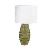 Lazy Susan by Dimond Lighting Spring Flaked 1 Light Table Lamp in Green 223080