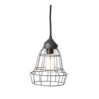 Lazy Susan by Dimond Lighting Wire Barrel 1 Light Pendant in Brown 225032