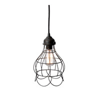 Lazy Susan by Dimond Lighting Wire Rose 1 Light Pendant in Brown 225033