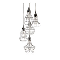 Lazy Susan by Dimond Lighting Wire 1 Light Pendant in Silver 225039
