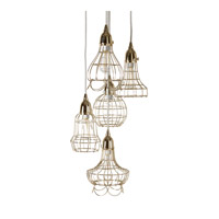 Lazy Susan by Dimond Lighting Wire 1 Light Pendant in Gold 225052