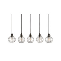 Lazy Susan by Dimond Lighting Wire 1 Light Pendant in Black 225064