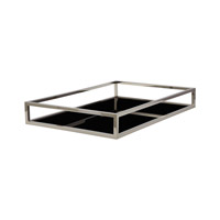 Lazy Susan by Dimond Signature Rod Tray in Silver and Black 225065