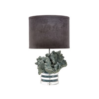 Dimond Home Coral and Crystal 1 Light Table Lamp in Blue 225087