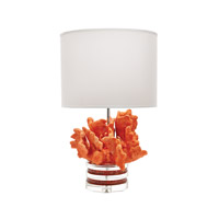 Lazy Susan by Dimond Lighting Coral and Crystal 1 Light Table Lamp in Orange 225088