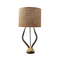 Lazy Susan by Dimond Lighting Faux Horn 1 Light Table Lamp in Brown 225092