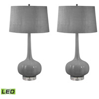Del Mar 32 inch 9.5 watt Grey Table Lamp Portable Light, Set of 2