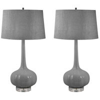Del Mar 32 inch 100 watt Grey Table Lamp Portable Light, Set of 2