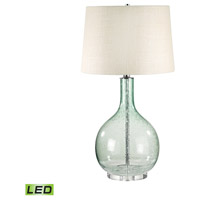 Signature 28 inch 9.5 watt Green Seed Glass Table Lamp Portable Light