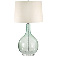 Signature 28 inch 100 watt Green Seed Glass Table Lamp Portable Light