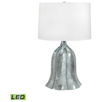 Fluted 26 inch 9.5 watt Mercury Glass Table Lamp Portable Light