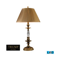 Dimond Lighting Trump Home Westchester Bedminster 1 Light Table Lamp in Burnt Gold Leaf 2455/1-LED