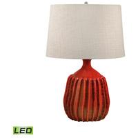 Dimond Lighting 248-LED Signature 24 inch 9.5 watt Tomato Red Table Lamp Portable Light