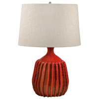 Dimond Lighting 248 Signature 24 inch 100 watt Tomato Red Table Lamp Portable Light
