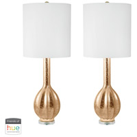 Dimond Lighting 252/S2-HUE-D Glam 33 inch 60 watt Gold Table Lamp Portable Light, Set of 2