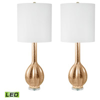Dimond Lighting 252/S2-LED Glam 33 inch 9.5 watt Gold Table Lamp Portable Light, Set of 2