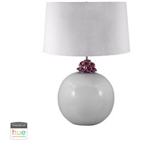Ceramic 28 inch 60 watt White Table Lamp Portable Light