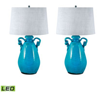 Signature 26 inch 9.5 watt Aqua Table Lamp Portable Light, Set of 2