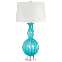 Gourd 31 inch 100 watt Powder Blue Table Lamp Portable Light