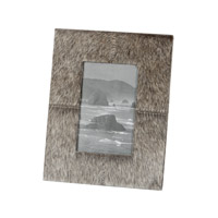 Lazy Susan by Dimond Faux Pony Frame in Gray 284026