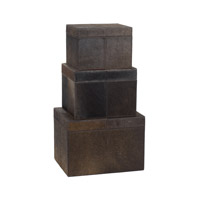 Lazy Susan by Dimond Nested Pony Box in Brown 284054