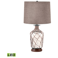 Signature 24 inch 9.5 watt Mercury Glass Table Lamp Portable Light, Jute-Wrapped