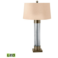 Signature 30 inch 9.5 watt Antiqued Brass Table Lamp Portable Light