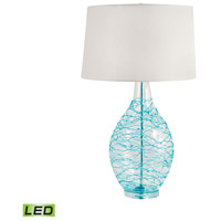 Signature 31 inch 9.5 watt Clear and Blue Table Lamp Portable Light
