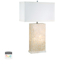 Dimond Lighting 305C-HUE-D River Rock 30 inch 60 watt Cream Table Lamp Portable Light, with Night Light