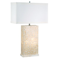 Dimond Lighting 305C River Rock 30 inch 100 watt Cream Table Lamp Portable Light, with Night Light