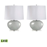 Signature 27 inch 9.5 watt Grey Table Lamp Portable Light, Set of 2