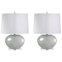 Signature 27 inch 100 watt Grey Table Lamp Portable Light, Set of 2