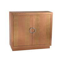Lazy Susan by Dimond Lighting Gold Stripe Chest Cabinet in Copper 3100-009