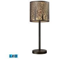 Woodland Sunrise 20 inch 13.5 watt Aged Bronze Table Lamp Portable Light in LED