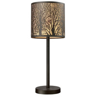 Woodland Sunrise 20 inch 60 watt Aged Bronze Table Lamp Portable Light in Incandescent