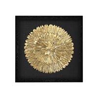 Gold Feather Gold and Black Wall Decor
