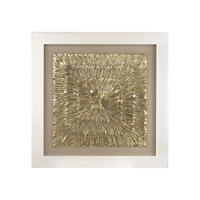 Dimond Home Gold Feather Spaturral Wall Decor in Gold and Natural Linen 3168-024