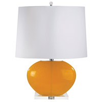 Signature 27 inch 100 watt Orange Table Lamp Portable Light, Set of 2