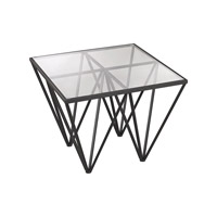 Dimond Home Geometric Side Table in Dark Bronze 3200-007