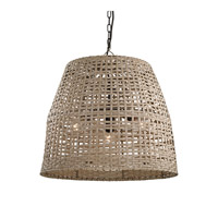 Dimond Lighting Signature Casual Woven 3 Light Pendant in Beige with Beige Plastic Rattan Shade 3200-013