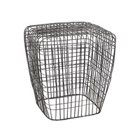 Lazy Susan by Dimond Lighting Woven Wire Stool in Burnt Silver 3200-014