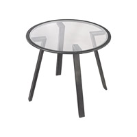 Lazy Susan by Dimond Lighting Geometric Accent Table in Pewter 3200-017